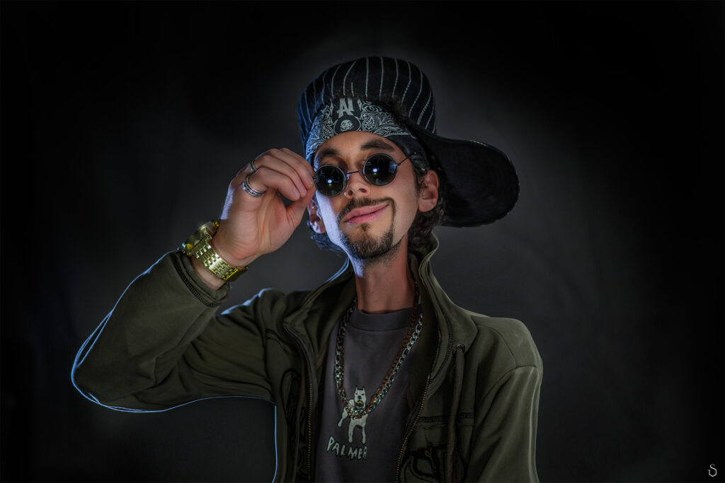 rapper caricature photography