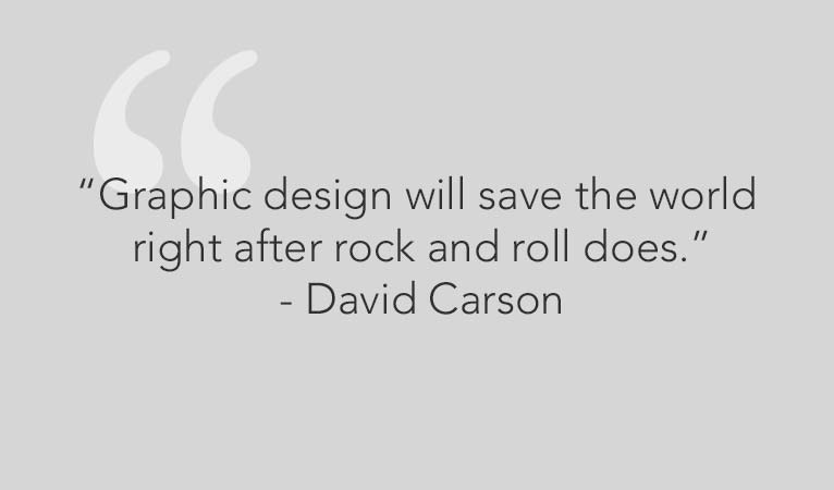 david carson design quotes