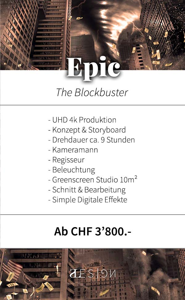 musikvideo produktion package epic