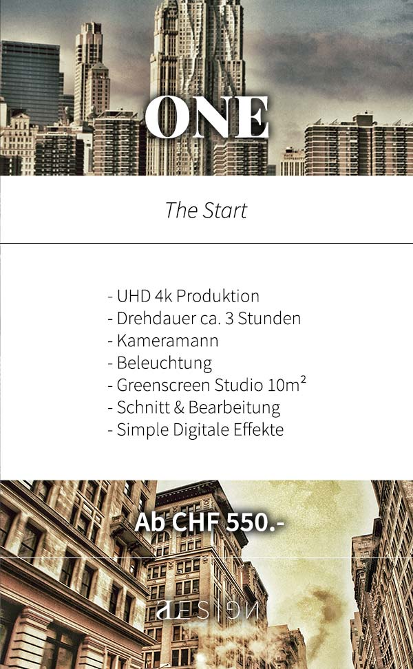 musikvideo produktion package one